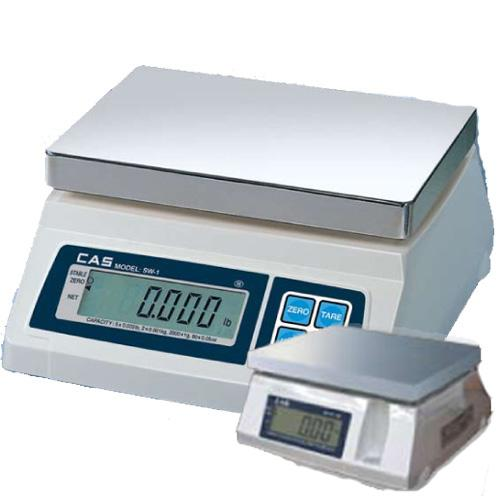 CAS SW-50-D Portable Digital Scale W/ Dual Display, 50 lb x 0.02 lb, Legal for Trade