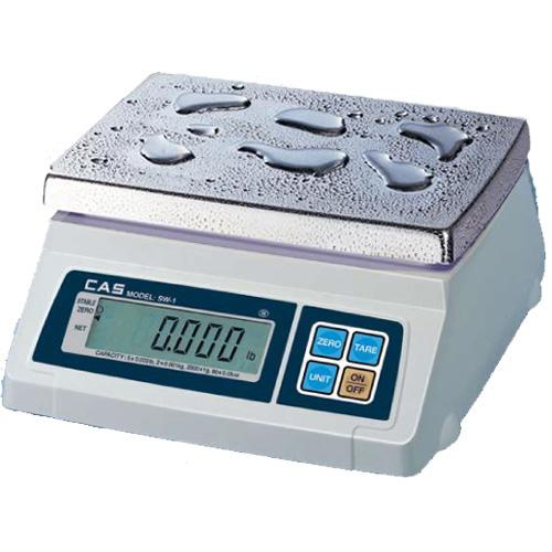 CAS SW-50W Portable Digital Scale Washdown, 50 lb x 0.02 lb, Legal for Trade
