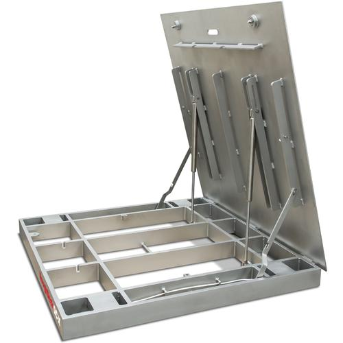 Rice Lake Roughdeck QC-X 175686 Stainless Steel Smooth Top Extreme Lift Floor Scale 4 x 4 ft - Base Only - 5000 lb