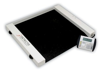 "Detecto digital wheelchair scales provide the economical answer to weighing patients in wheelchairs. Detecto ""Roll A Weigh"" wheelchair scales are semi-portable, letting you put a wheelchair scale where you need it, when you need it."