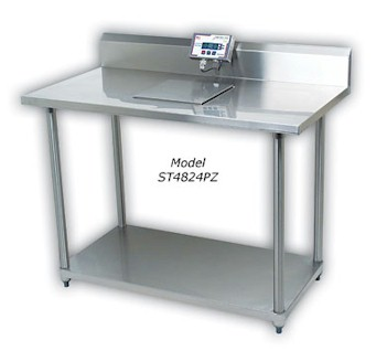 Detecto ST-Series Stainless Steel Prep Tables