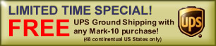 FREE UPS Ground Shipping with any Mark-10 purchase!